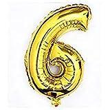 RICISUNG ちょうど良い大きさ 数字バルーン ゴールド 誕生日 ウェディング パーティーに (6)