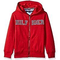 Tommy Hilfiger Little Boys' Long Sleeve Matt Logo Zip up Hoodie
