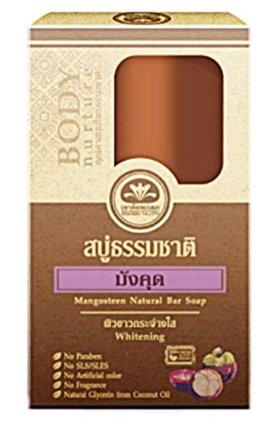 教えカポックバルーンMangosteen Mangosutin マンゴスチン石鹸 Natural Bar Soap Reduce Black spots Whitening Skin Soap 80 grams.