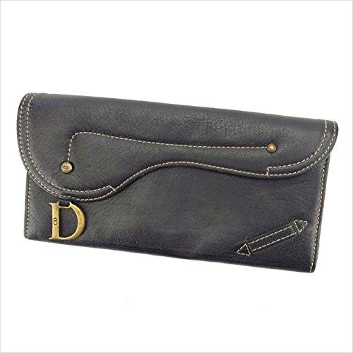クリスチャンディオール Christian Dior 長財布 ファスナー付き長財布 男女兼用 サドル型 中古 P314