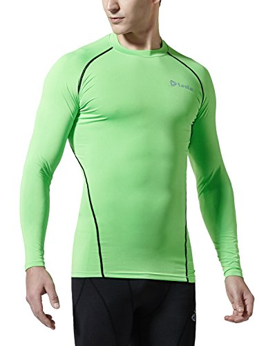 R11-NEKZ-S(テスラ)TESLA オールシーズンラウンドネック スポーツシャツ [UVカット・吸汗速乾] コンプレッションウェア パワーストレッチ アンダーウェア【ランニング・・登山サイクリング・トレニング・サッカー・スキー・スノーボード・サーフィン・ ゴルフウェア】