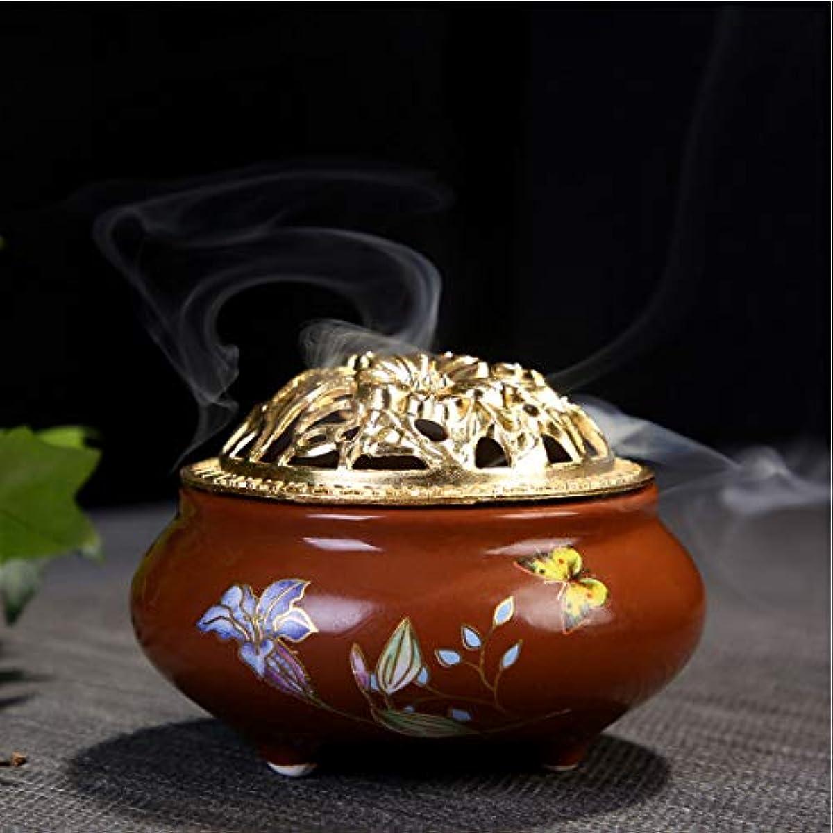 下品シエスタセールスマン手作りのセラミック香炉と円錐香炉ブラケット創造的な香炉家の装飾工芸6.5 * 9.5 cm