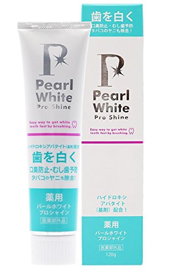 ブローホール匹敵します過剰薬用Pearl white Pro Shine 120g [医薬部外品]