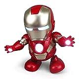 Iron Man Dancing Robot - 7.5インチ、PVC、音楽、キャプテン・アメリカ、子供用おもちゃ