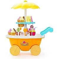 子供が食物をすること小型の食物、偽造の食物〈家庭の商品キッチン〉アイスクリームカート装飾