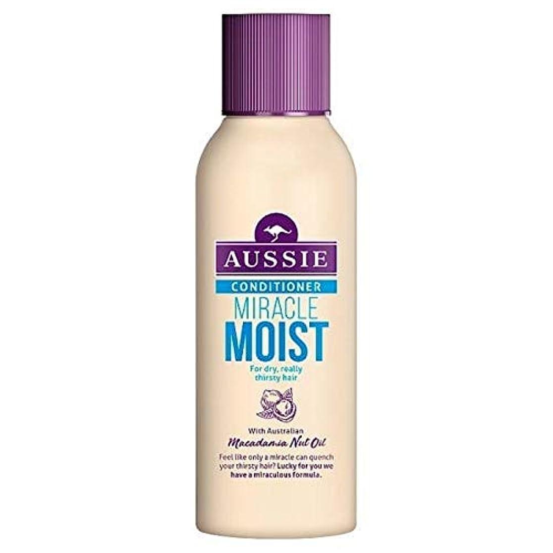 麦芽名声促進する[Aussie ] 乾いた、のどが渇い毛90ミリリットルのためのオーストラリアの奇跡しっとりコンディショナー - Aussie Miracle Moist Conditioner For Dry, Thirsty Hair...