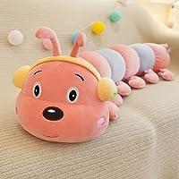 キャタピラー ぬいぐるみ 抱き枕 面白い 40-90CM ふわふわ もちもち かわいい 動物 おもちゃ 大きい 子供 彼女へ 誕生日 プレゼント 贈り物 ふかふか 柔らかい お祝い 入園祝い 入学祝い バレンタイン 60cm ピンクレッド