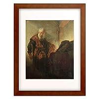 レンブラント・ファン・レイン Rembrandt Harmenszoon van Rijn 「The Apostle Paul at his Writing-Desk」 額装アート作品