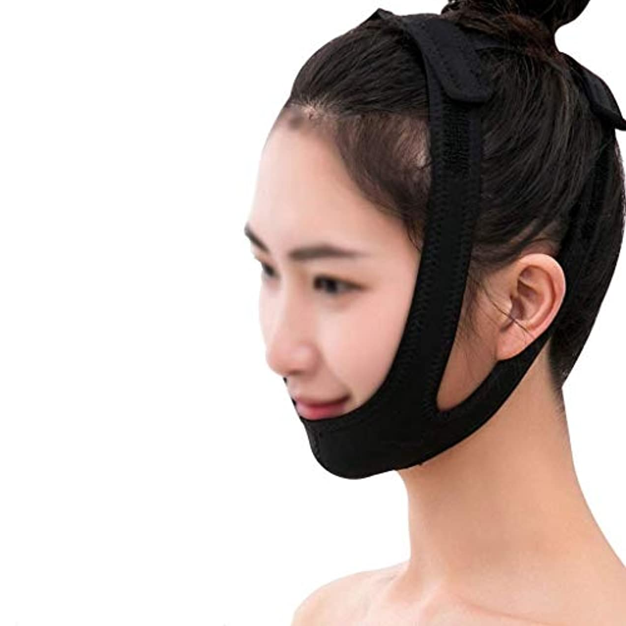 ほうき絡み合いシロクマフェイシャルリフティングマスク、医療用ワイヤーカービングリカバリーヘッドギアVフェイス包帯ダブルチンフェイスリフトマスク