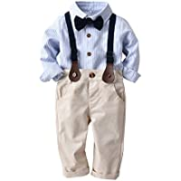 HappyTop 3PCS Boys' Suit Wedding, Baby Gentleman, Shirt & Tie for Boys, Party Christening Suit, 1-3 Years