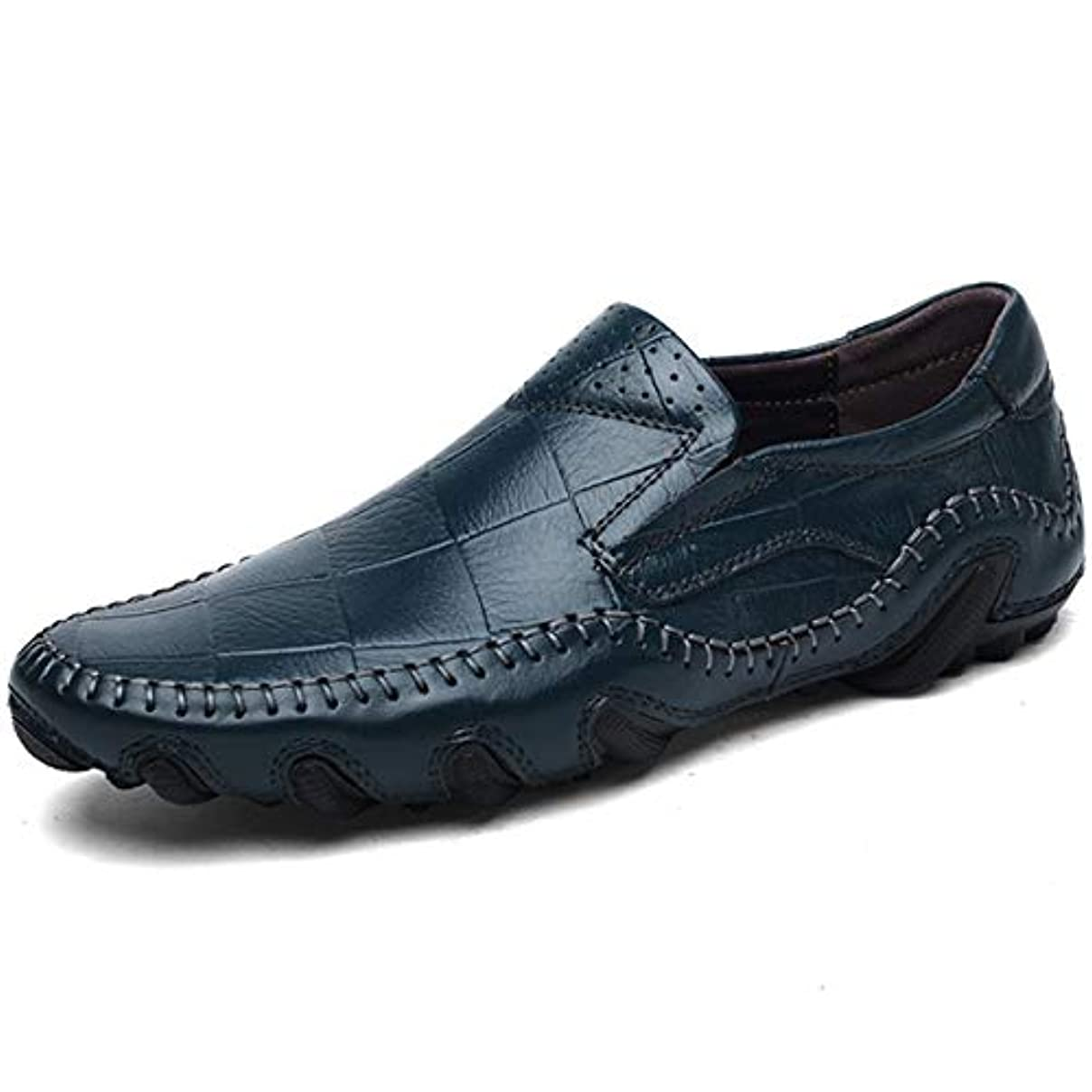 アクセスできない放棄花嫁[つるかめ]Turukame カジュアルシューズ ドライビングシューズ ピーズの靴 革靴 メンズ 牛革 防滑 軽量 手作り スリッポン フラット 純色 イギリス風 就職面接 日常着用 四季