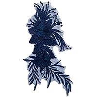 (デマ―クト)De.Markt アップリケ 刺繍花 ワッペン 補修ワッペン 衣類アクセサリー 装飾用 装飾ワッペン 手芸用 綺麗 縫製 DIY 工芸品の装飾 縫い付け シンプル 22cm*12cm