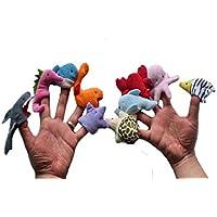 ychoice面白いFinger PuppetsおもちゃMarine動物指パペット子供大人再生LearnストーリーToy