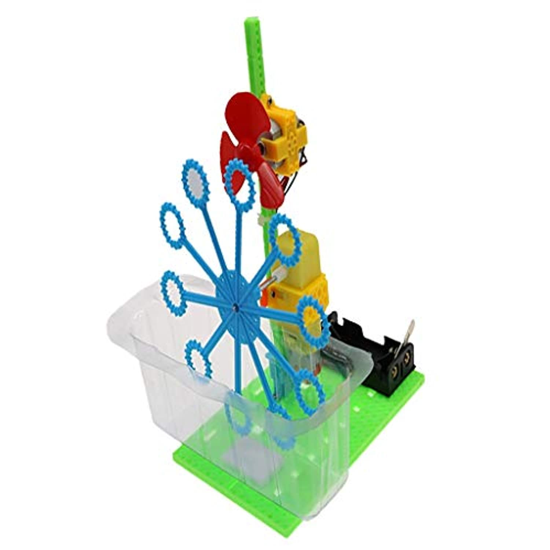 SM SunniMix しゃぼん玉発生機 バブルマシンモデル DIY 技術小発明 組み立ておもちゃ 知育玩具 子供プレゼント