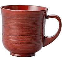天然素材カップ 木製のカップ 刷毛目マグカップ(根来)