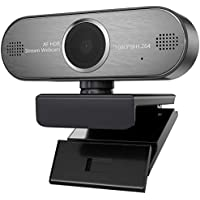 Pro ウェブカメラ 1080P Web カメラ HD画質マイク内蔵 自動焦点 美容効果 PC用マイクUSBワイドスクリーン付きHDRビデオ 高画質 MAC/Windows 7/8/10対応