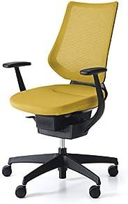 コクヨ イング イス オリーブイエロー メッシュタイプ デスクチェア 事務椅子 座面が360°動く椅子 CR-G3403E6G41S-W 【ラクラク納品サービス】