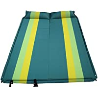 ASL SUV車のインフレータブルベッド、屋外の自動インフレータブル多機能インフレータブルパッドのトランクトラベルベッドカーベッド寝床の床マットレス192 * 132 * 3センチメートル HAPPY ( 色 : 青 )