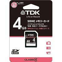 TDK SDHCカード 4GB Class4 (5年保証) T-SDHC4GB4