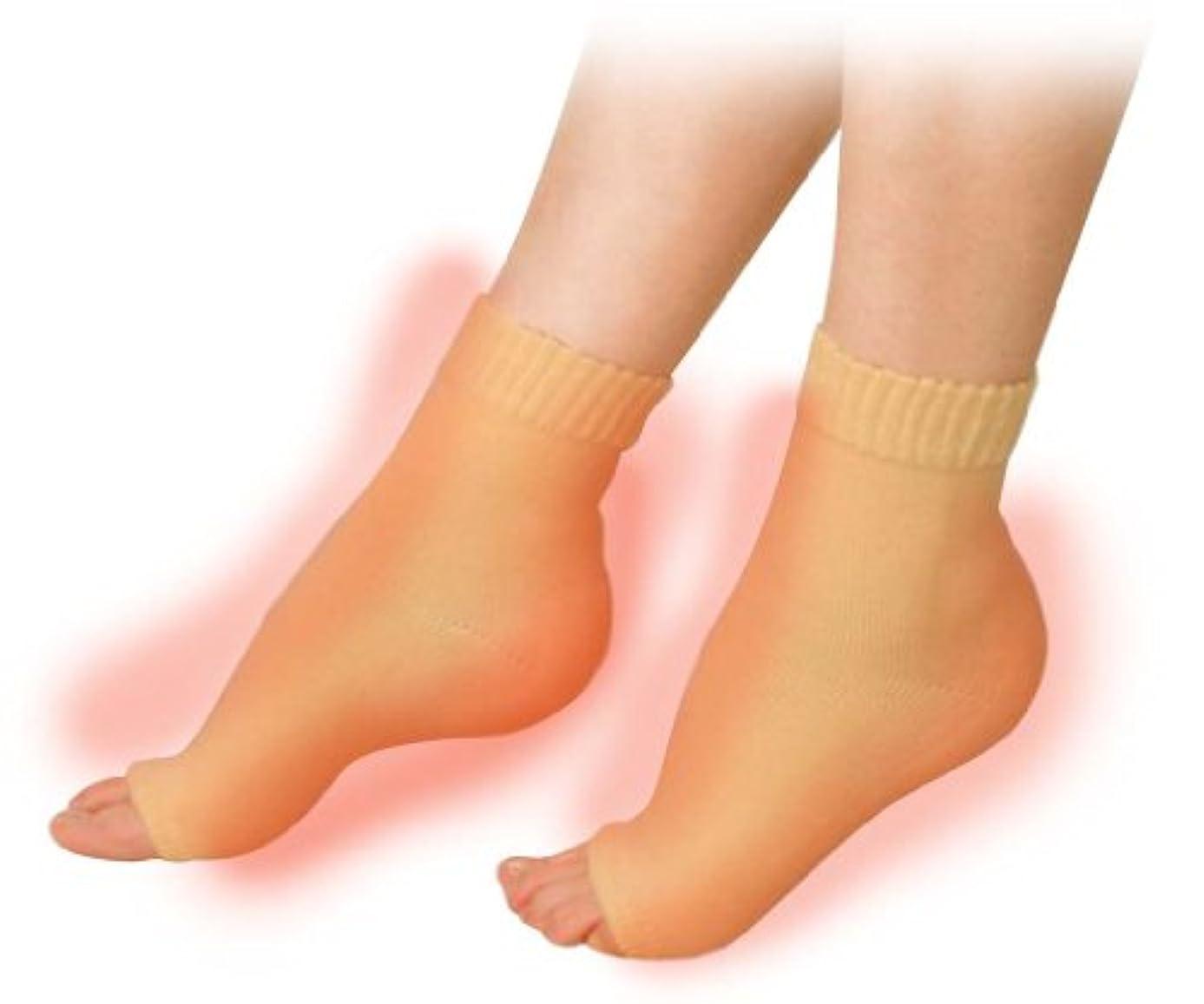 盟主説明するメーカー素足美女 発熱かかとナイトエステ かかと足裏2ヶ所タイプ