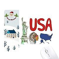 アメリカ の国家の象徴のランドマークのパターン サンタクロース家屋ゴムのマウスパッド