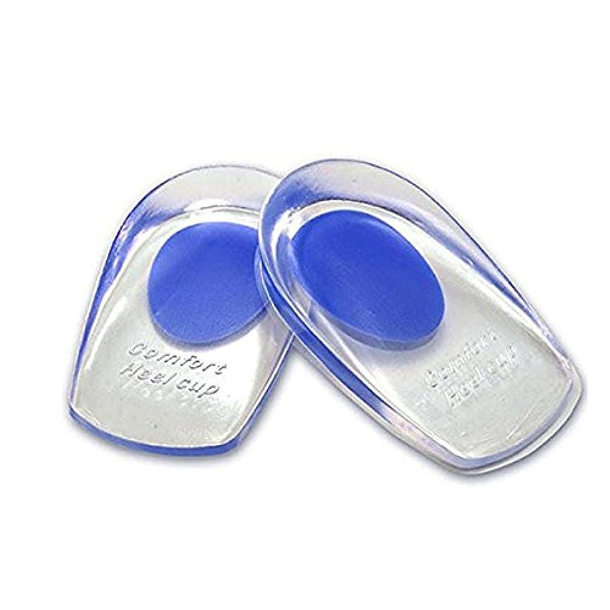 ばか新しい意味不確実ROSENICE かかと インソール ジェル 靴 中敷き クッション パッド 1ペア