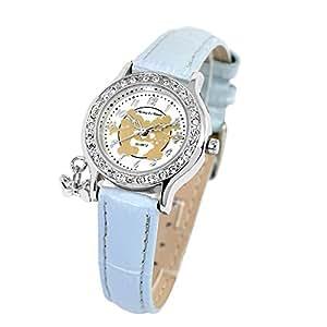 ディズニー 腕時計 ミニー ラブキッス ミッキーマウス ウオッチ ブルー ミニー 腕時計 本革ベルト 世界限定品 レディース 時計 大人ディズニー シリアルナンバー入り disney ミッキー [並行輸入品]