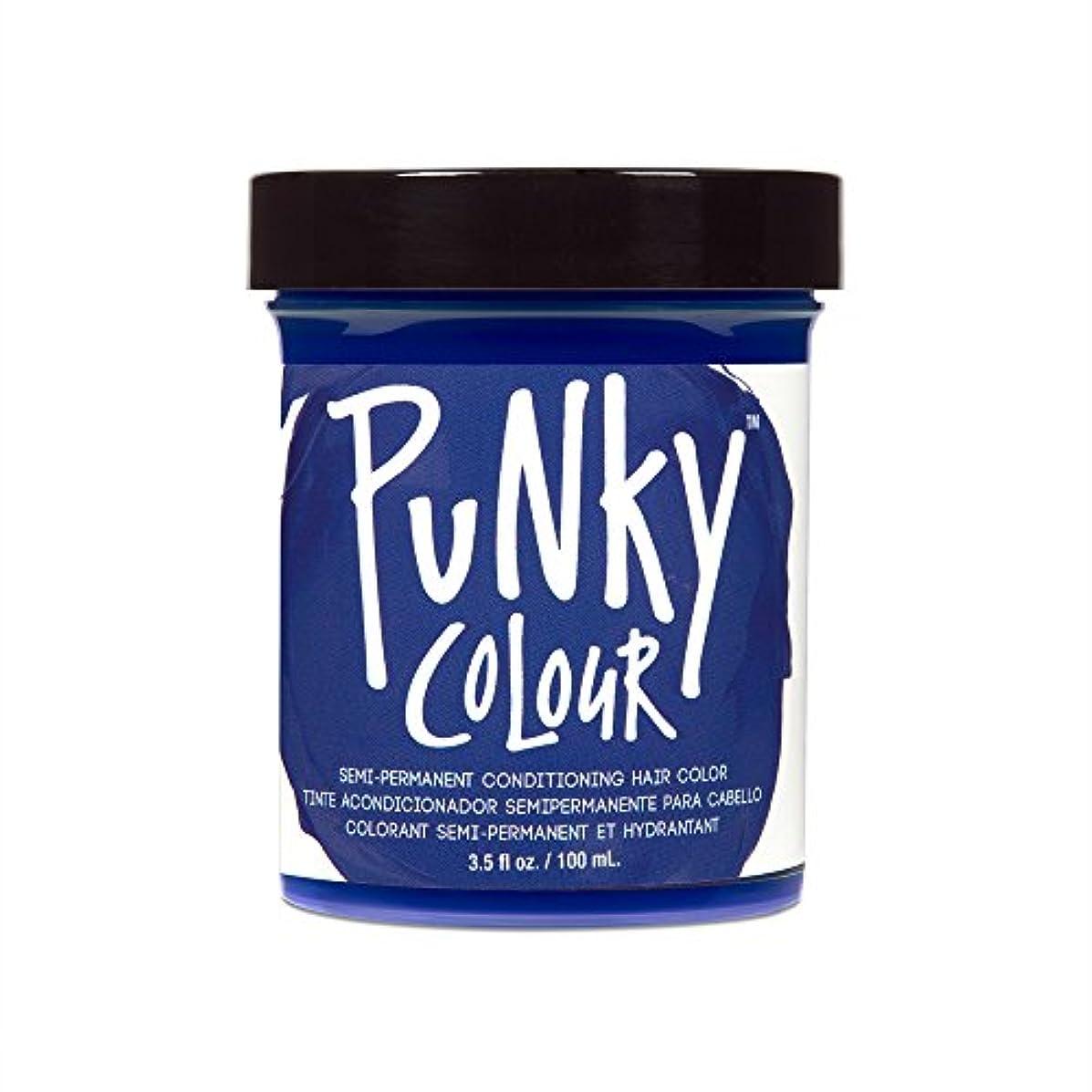 炭素ペスト教育する(3 Pack) JEROME RUSSELL Punky Color Semi-Permanent Conditioning Hair Color - Midnight Blue (並行輸入品)