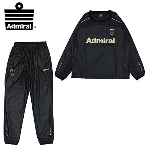 ■ジュニア■ アドミラル(Admiral) サッカー フットサル ウィンドブレーカー 上下セット JR ピステスーツ (AD010503F19)2016FW[BK/BK/WH][150]