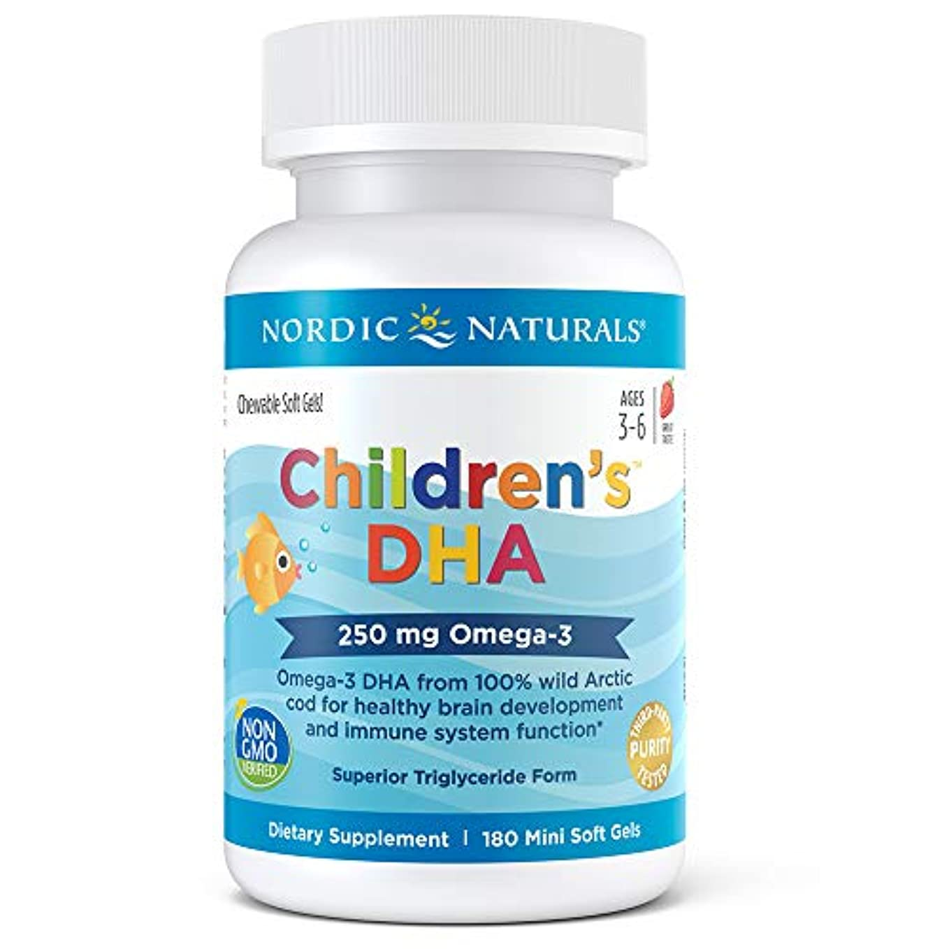 Nordic Naturals キッズ 用 DHA イチゴ 180 ソフト ジェル