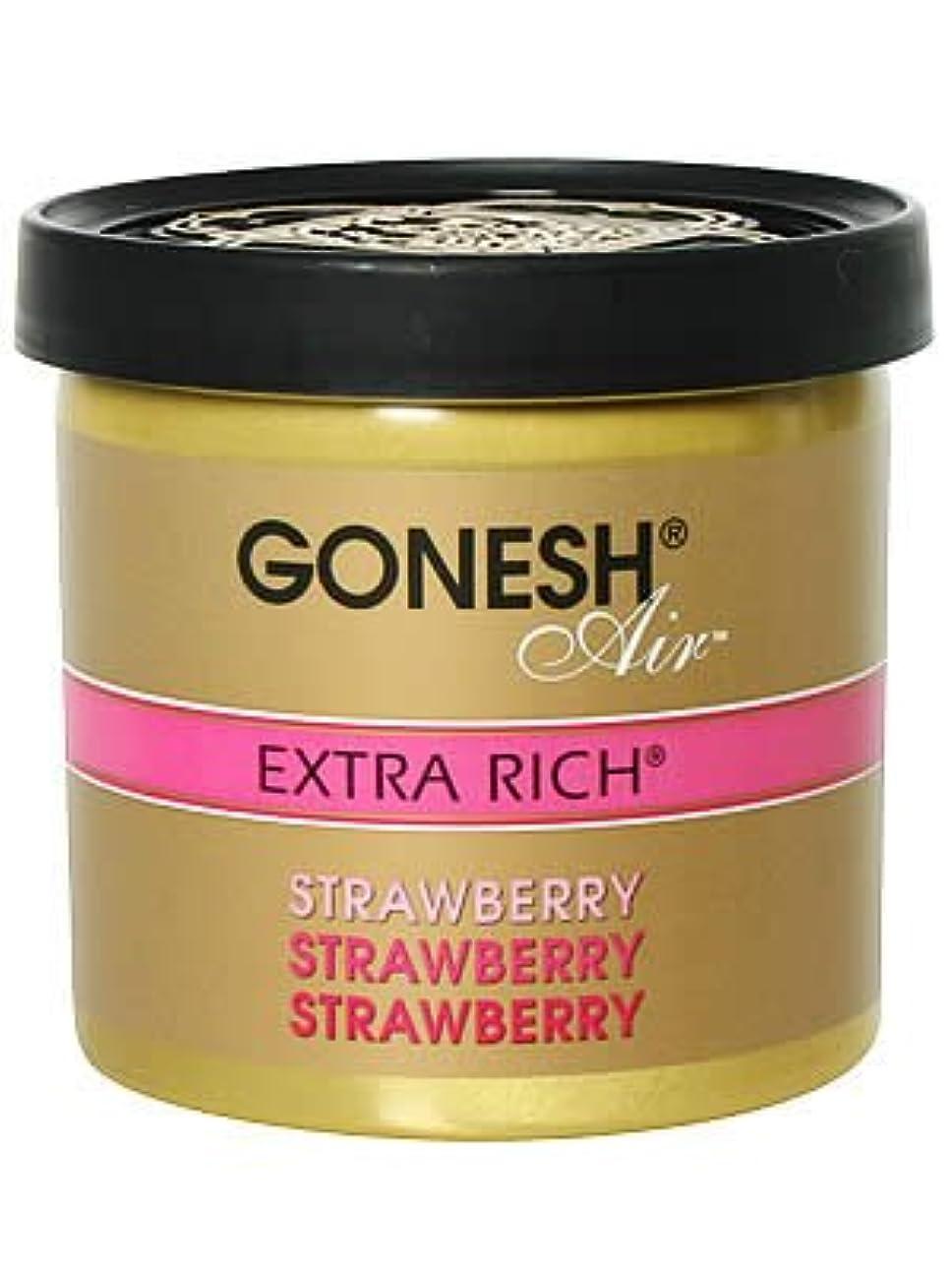 パーセントヒゲクジラ瞑想的ガーネッシュ(GONESH) ゲルエアフレッシュナー ストロベリー 78g