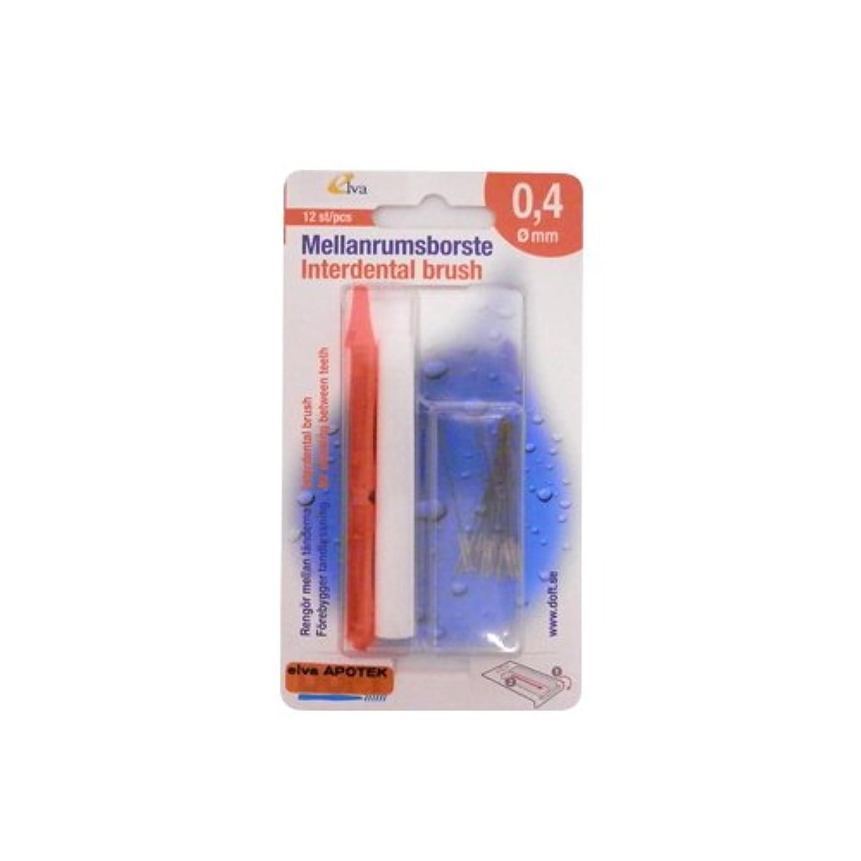 閉塞不屈表示エルバ アポテック 歯間ブラシ ELVA APOTEK 12本入 オレンジ 0.4mm