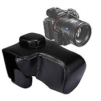 SJY Sony A7 II / A7R II / A7S IIのためのストラップ付きフルボディカメラPUレザーケースバッグ (色 : Black)