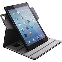 エレコム iPad Air 2 ソフトレザーケース 360度回転スタンド ハンドホールドベルト付き ブラック TB-A14360BK
