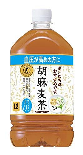 [トクホ]サントリー 胡麻麦茶 1L×12本
