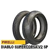 ピレリ(PIRELLI) バイクタイヤ 前後セット ディアブロ スーパーコルサ V2 SP 120/70 ZR17 (58W) TL & 190/55 ZR17 (75W) TL 813652