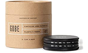 Gobe 55mm UV + Circular Polarizing (CPL) Lens Filter Kit (1Peak)