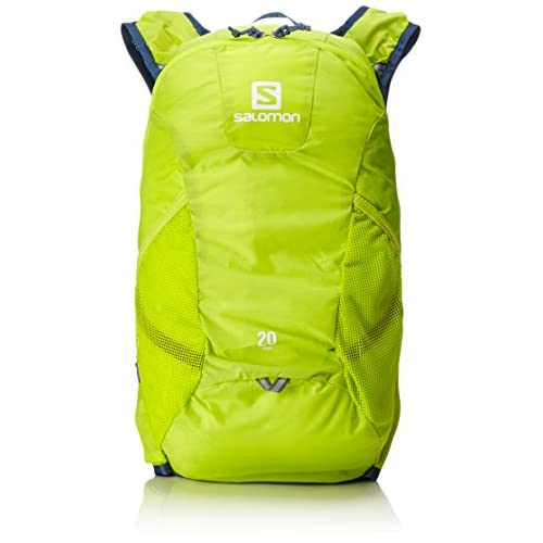 [サロモン] バックパック TRAIL 20 L37998000 LIME PUNCH./Vintage Indigo