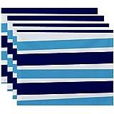 E byデザインHanukkahストライプHolidayプレースマット – 4のセット 1 ブルー PT4SHN568BL20BL9