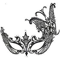 マスク マスクハロウィンメタルダイヤモンドワンピースマスク女性ヴェネチアマスクコスパリドレスアップハーフフェイスプリンセスマスク (色 : A)