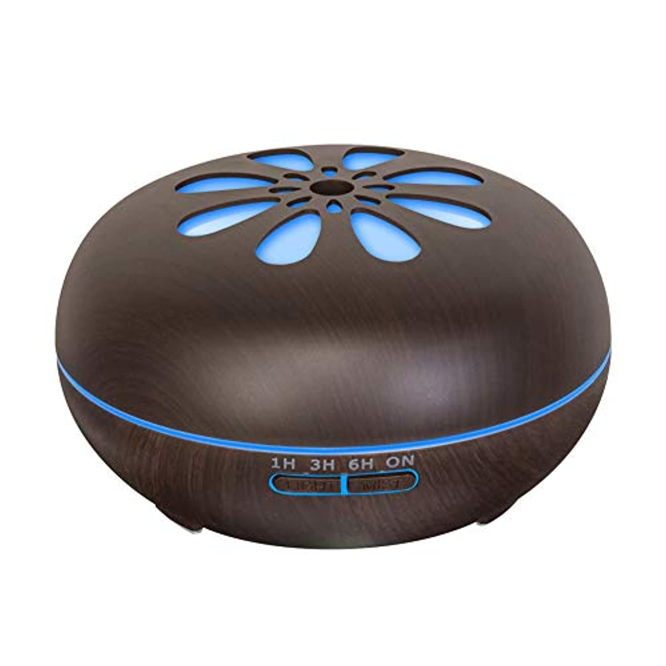 縮約配置コントローラ550 Ml 木目 涼しい霧 加湿器,リモコン 7 色 超音波式 加湿機 時間 香り 精油 ディフューザー ホーム オフィス リビング ルーム Yoga-h
