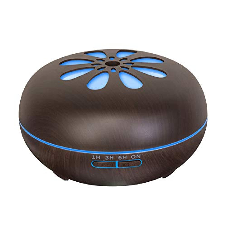 ラベ誇張する夢中550 Ml 木目 涼しい霧 加湿器,リモコン 7 色 超音波式 加湿機 時間 香り 精油 ディフューザー ホーム オフィス リビング ルーム Yoga-h