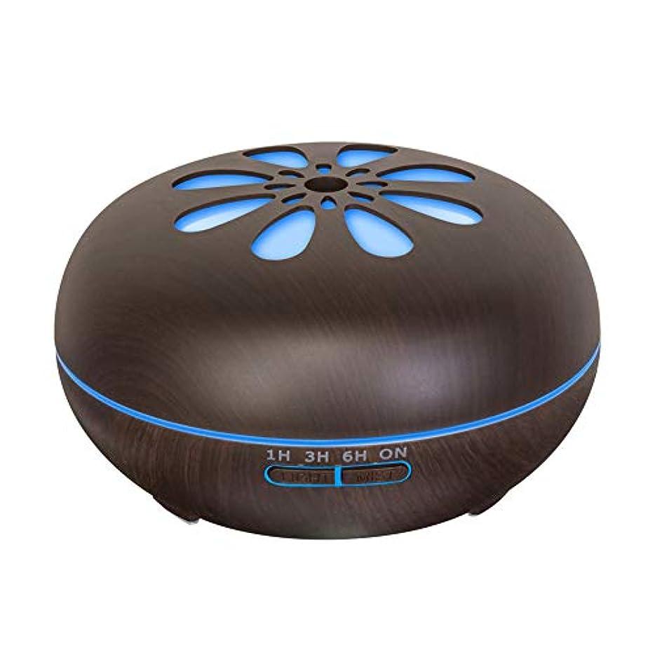 550 Ml 木目 涼しい霧 加湿器,リモコン 7 色 超音波式 加湿機 時間 香り 精油 ディフューザー ホーム オフィス リビング ルーム Yoga-h