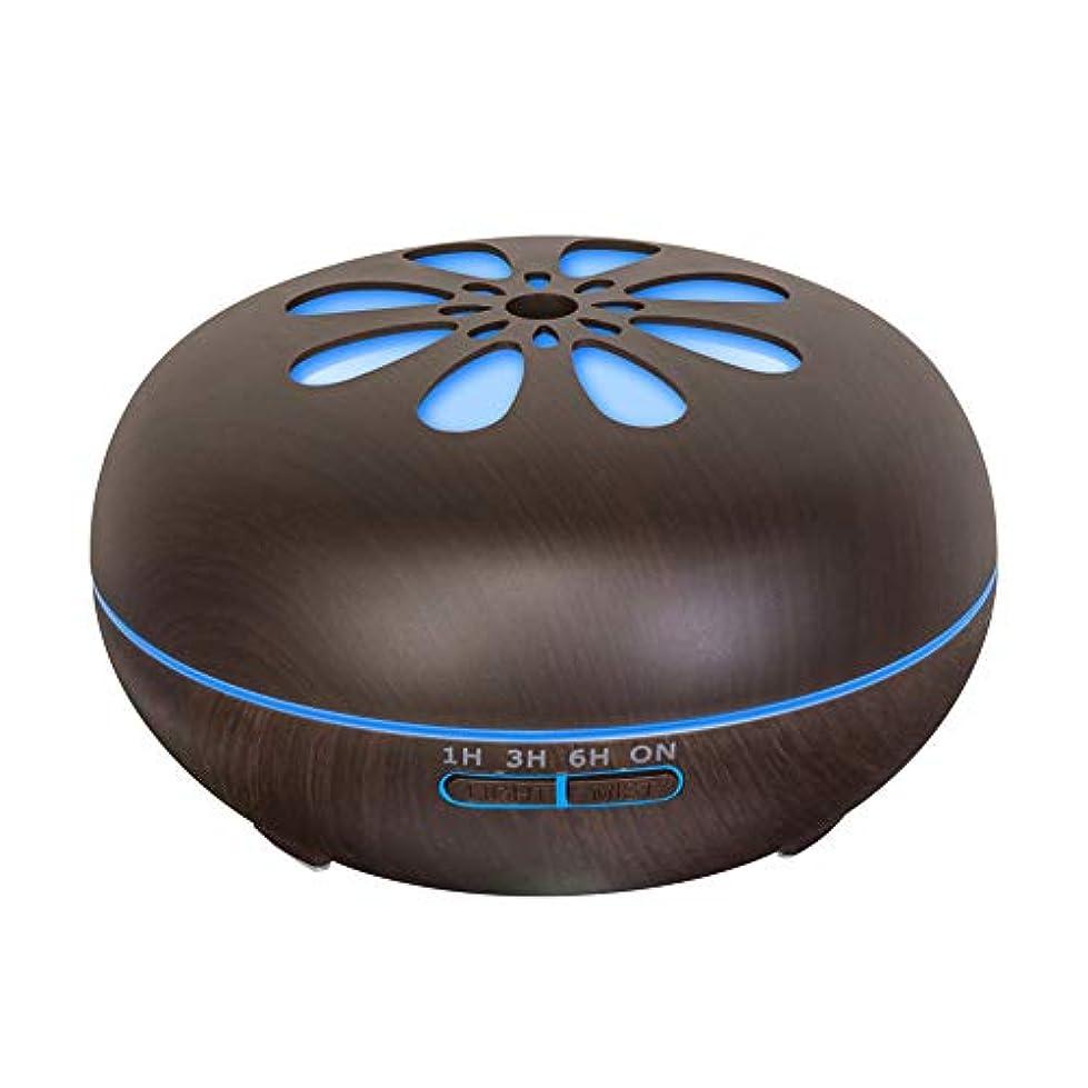 労働者作成者泳ぐ550 Ml 木目 涼しい霧 加湿器,リモコン 7 色 超音波式 加湿機 時間 香り 精油 ディフューザー ホーム オフィス リビング ルーム Yoga-h