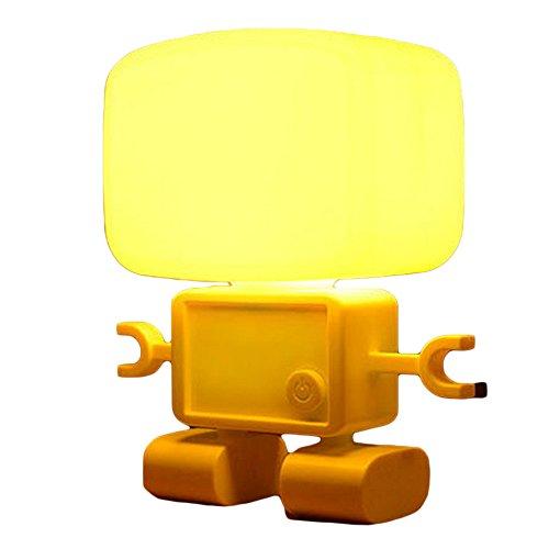 【Bidear】可愛なロボットLEDランプ 可愛なデザイン ギフト 卓上スタンド デスクライト 電気スタンド 調光タイプ usb充電