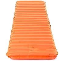 エアベッド屋外テントマニュアルインフレータブルクッションモイスチャリングパッド自動インフレータブルマットレスマットブルーオレンジ193X60X9cm (色 : Orange)