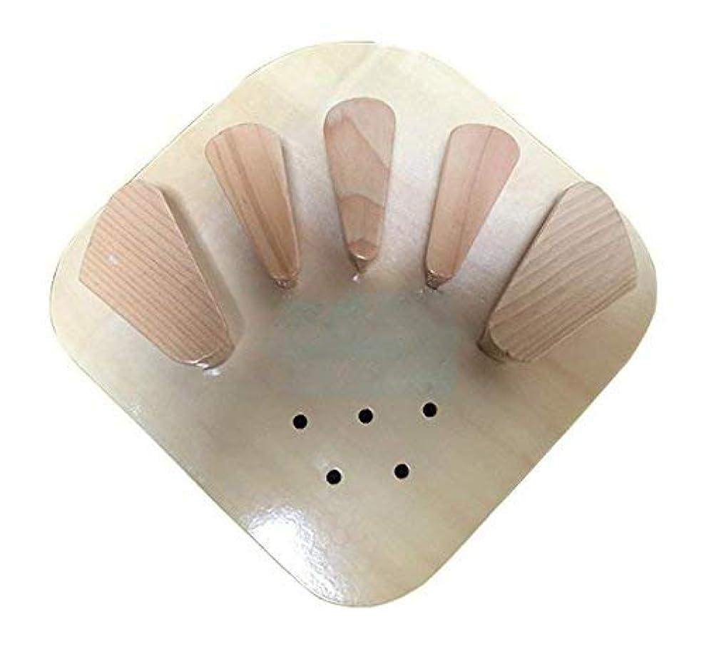 震えレバー増加する木製指装具指板片麻痺脳卒中ハンドスプリントトレーニングサポート、大きな