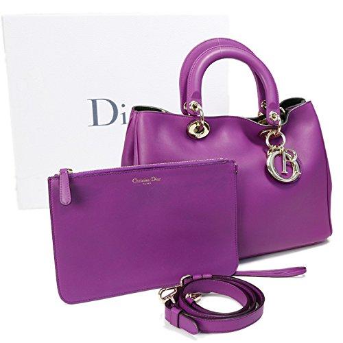 Christian Dior ディオリッシモ 2WAYハンドバッグ M09020VPU 紫 [中古]