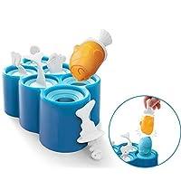 Six-Bullotime アイスポップモールド 製氷皿 氷モールド フィッシュポップモールド 超可愛いお菓子作り 製菓道具 6個アイスポップ型 可愛い海の生き物の形 DIY製菓