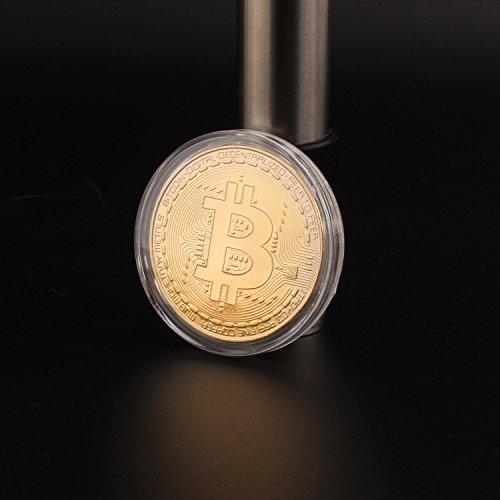 ビットコイン Bitcoin Collectible ギフト バーチャル レプリカ 仮想 通貨 コイン グッズ アートコレク メッキ ライトコイン 記念硬貨 コレクション 一枚入り (ゴールド)
